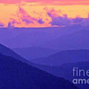 Blue Mountain Afterglow Art Print
