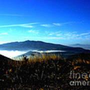 Blue Mountain Landscape Umbria Italy Art Print