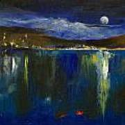 Blue Nocturne Art Print by Michael Creese