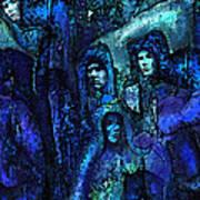 Blue O'clock Cloisters Art Print