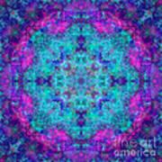 Blue Opal Rainbow Mandala Art Print