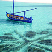 Blue Peace. Maldives Art Print