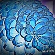 Blue Pine Cone 2 Art Print