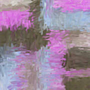 Blue Pink Brown Abstract Art Print