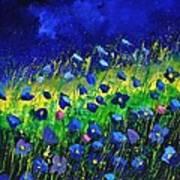 Blue poppies 674190 Art Print