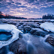 Blue Rapids Art Print by Davorin Mance