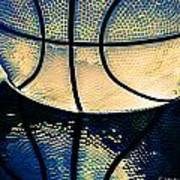Blue Basketball Art Print