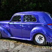 Blue Restored Willy Car Art Print
