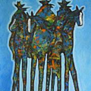 Blue Riders Art Print