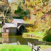 Blue Ridge Grist Mill Art Print