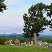 Blue Ridge Mountain Cemetery Art Print
