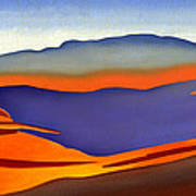 Blue Ridge Mountains East Fall Art Abstract Art Print