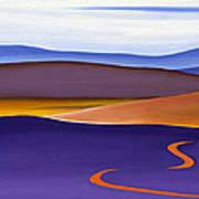 Blue Ridge Orange Mountains Sky And Road In Fall Art Print