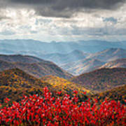 Blue Ridge Parkway Fall Foliage - The Light Art Print by Dave Allen