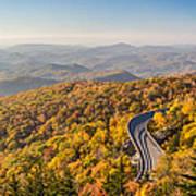 Blue Ridge Parkway In Peak Autumn Colors Art Print by Pierre Leclerc Photography