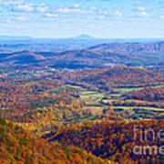Blue Ridge Parkway Overlook Art Print