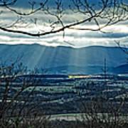 Blue Ridge Winter Solstice 2012 Art Print
