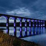 Blue Royal Border Bridge Art Print