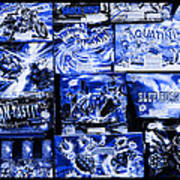Blue Rush Art Print