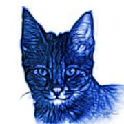 Blue Savannah Cat - 5462 F S Art Print