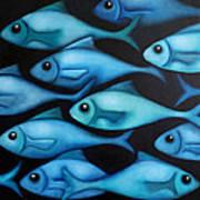 Blue School 2 Art Print