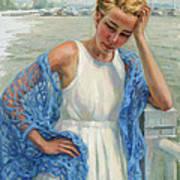Blue Shawl Art Print