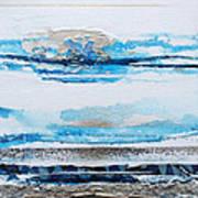 Blue Shore Rhythms And Textures IIi Art Print