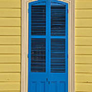 Blue Shutter Door - New Orleans Art Print