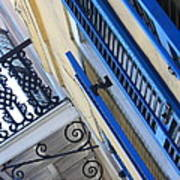 Blue Shutters In New Orleans Art Print