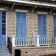 Blue Shutters On Toulouse Art Print