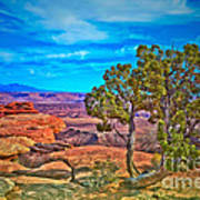 Blue Skies And Canyons Art Print