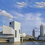 Blue Skies Over Cleveland Art Print