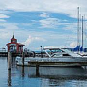 Blue Skies Over Seneca Lake Marina Art Print