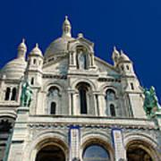 Blue Sky Over Sacre Coeur Basilica Art Print