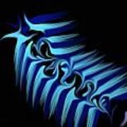 Blue Slug Art Print by Michael Jordan