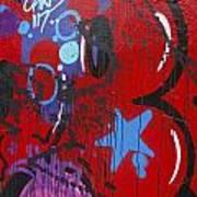 Blue Star Graffiti Nyc 2014 Art Print