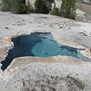 Blue Star Yellowstone Art Print
