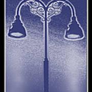 Blue Street Lights Art Print