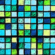 Blue Sudoku Art Print