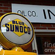 Blue Sunoco Globe Art Print