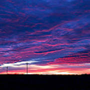 Blue Sunrise In West Texas Art Print