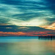 Blue Sunset Art Print by Christopher Blake