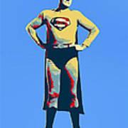 Blue Superman Art Print
