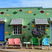 Blue Swallow Motel In Tucumcari In New Mexico Art Print