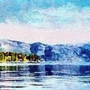 Blue Tahoe Art Print
