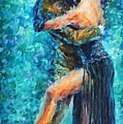 Blue Tango 2 Art Print