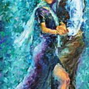 Blue Tango 3 Art Print