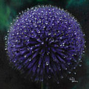 Blue Thistle Art Print by Lynette Yencho