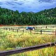 Blue Tractor Deckers Colorado Art Print