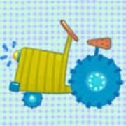 Blue Tractor Art Print